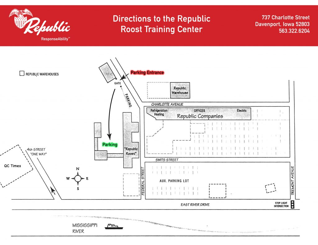 Republic Roost Parking Map