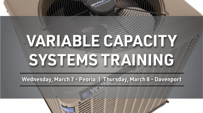 Variable Capacity Systems Training Flyer March 2018 2