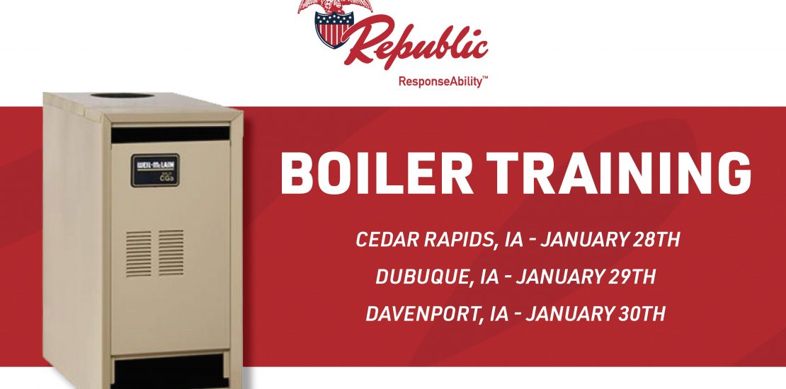 Republic Boiler Training - January 2020 Flyer